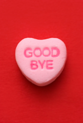 Candy heart: Good Bye